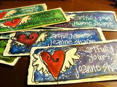 """Whimspirations: """"artful business card"""" tutorial"""