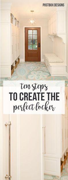 10 Steps to Create the Perfect Locker, Mudroom Ideas by Postbox Designs, mudroom ideas, custom lockers, locker organization, e-design