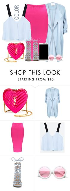 """COLOR"" by fashionista-sweets ❤ liked on Polyvore featuring Yves Saint Laurent, River Island, Boohoo, Zara, Samsung, ALDO, ZeroUV and Michael Kors"