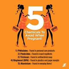 Chemicals to avoid when pregnant- Zabada Cleaning Products #greenliving