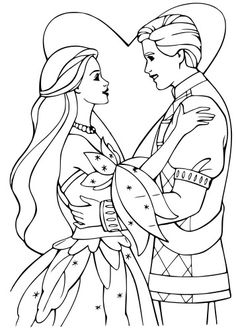 Barbie And Ken Coloring Pages - Barbie And Ken Colouring Pages Barbie Coloring Pages, Disney Princess Coloring Pages, Heart Coloring Pages, Horse Coloring Pages, Online Coloring Pages, Cool Coloring Pages, Coloring Pages For Kids, Coloring Books, Barbie Colouring