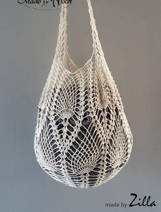 파인애플 무늬의 가방, 그물가방, 코바늘뜨개, 무료도안, 공개도안 : 네이버 블로그 Crochet Stitches Patterns, Crochet Designs, Stitch Patterns, Crochet Market Bag, Bag Pattern Free, Net Bag, Handmade Bags, Purses, Knitting