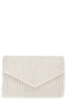 Nordstrom | Sole Society Crystal 'Isabel' Embellished Envelope Clutch