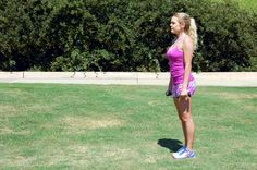 16. Lunge With Biceps Curl