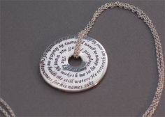 23 Psalm Sterling Touchstone Pendant � ChristianGiftsPlace.com Online Store