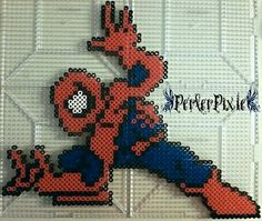 Spiderman perler beads by PerlerPixie