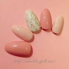 #pink #simple #nails