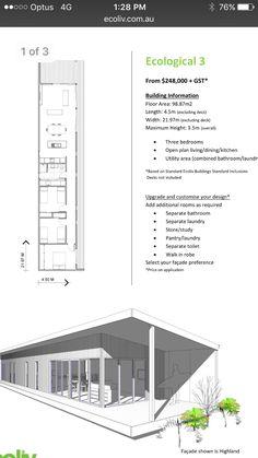 Kitchen Utilities, Open Plan Living, Floor Plans, Flooring, How To Plan, Dining, Building, House, Ideas