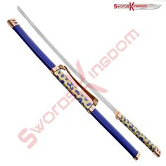 """ANIME NARUTO KATANA SWORD 40"""" Blade Length: 28"""" scabbard with brass genuine leather carrying handle See more details you can visit our website by clicking a link that mentioned on our profile."""