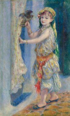 ピエール=オーギュスト・ルノアール Pierre-Auguste Renoir 『鳥と少女』(1882)The Clark Collection