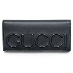 0963cd098 Gucci XL Logo Black Leather Wallet Signature Leather Italy New #handbag  #shoulderbag #DarkCocoa