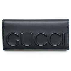 90d30475 Gucci XL Logo Black Leather Wallet Signature Leather Italy New #handbag  #shoulderbag #DarkCocoa