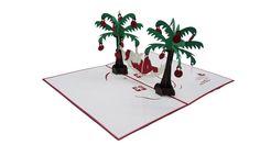 Christmas Coconut tree – 3D Pop-Up Card / kirigami pattern
