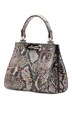 Bertoni - Painterly Python Mini Doriana Top Handle Bag