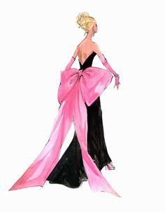 "Robert Best Barbie Print ""Big Pink Bow"" 5x7   eBay"