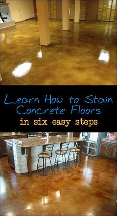 flooring concreto pulido Staining concrete floor is a great way to give the surface a more interesting, finished look. Want to learn how YOU can DIY Head over here!