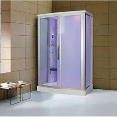 Eagle Bath Sliding Door Steam Shower Enclosure Unit Glass Color: Frosted