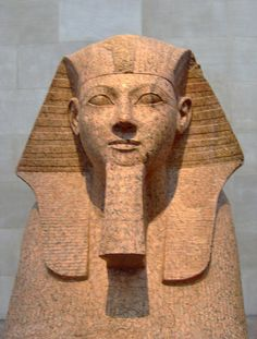 Sphinx of Hatshepsut, Dynasty 18, joint reign of Hatshepsut and Thutmose III ca. 1473-1458 BC - Hatshepsut is one of the most famous queens of Egypt who also ruled as pharaoh. Thanks for the invite!!!