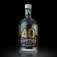 The FORTIES. Label design. Vodka. on Behance