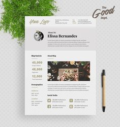 advertising media kit template - blog media kit ad rate sheet ad rates
