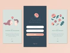 40 Mobile Apps Onboarding Designs for Your Inspiration - Hongkiat - Expolore the best and the special ideas about App design Web Design, App Ui Design, User Interface Design, Branding Design, Dashboard Design, Flat Design, Icon Design, Graphic Design, Mobile App Design