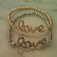 $18 SassySexyCool.com <3 Diamond Love Stretch Bracelet