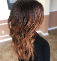 Balayaged brunette