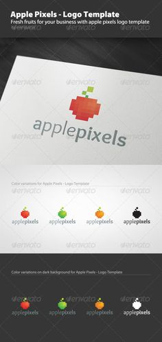 apple pixels logo template vector eps logo pixel available here httpsgraphicrivernetitemapple pixels logo template1323462refpxcr