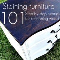 staining wood button