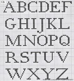 Ackworth School-Antique cross stitch Alphabet
