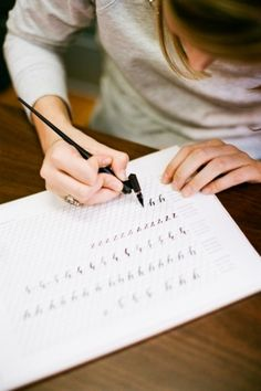 Learn how to do calligraphy