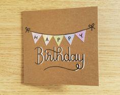 Items similar to Birthday Bunting card on Etsy
