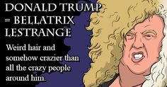 Harry Potter Characters, Harry Potter Memes, Donald Trump Pictures, Funny Links, Bellatrix Lestrange, Just Be Happy, College Humor, Crazy People, Crazy Hair