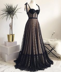 Vintage A Line Prom Dresses Sweetheart Black Polka Dots Evening Formal Gowns on Storenvy Vintage Formal Dresses, Formal Gowns, A Line Prom Dresses, Evening Dresses, 1950s Prom Dress, Vintage Evening Gowns, Pretty Dresses, Beautiful Dresses, Sweetheart Prom Dress