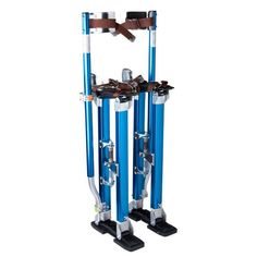 "24""-40"" Aluminum Drywall Stilts Blue"