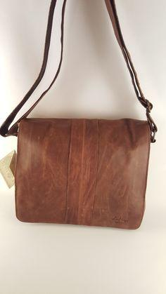 Aged Italian Leather Messenger Bag  3344 e9d2f3c4fb665