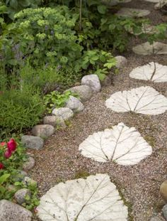DIY path- Recently painted some of these for my grandma's path- Interested in making my own!!