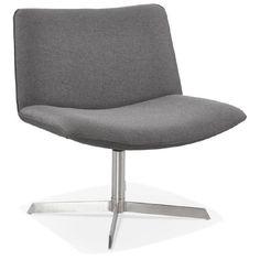 Particulièrement agréable au toucher, le Fauteuil design pivotant MIRANDA (gris foncé) assura un maximum de commodités.