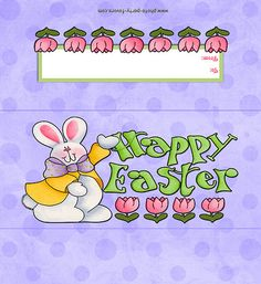 Candy bar wrapper-- http://www.photo-party-favors.com/candy-bar-Happy-Easter-bunny.html