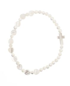 Mother of pearl cross bracelet. $15.95. Perfect for Mother's Day. #MothersDay #CreatorMundi