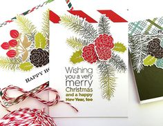 Very Merry Christmas Card by Danielle Flanders for Papertrey Ink (September 2016)