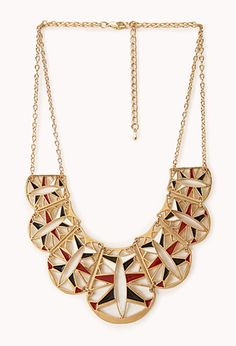 Cutout Scalloped Bib Necklace | FOREVER21 - 1000091109
