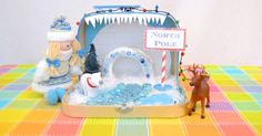 North Pole Travel Play Set - http://innerchildfun.com/2013/11/north-pole-travel-play-set.html #kids