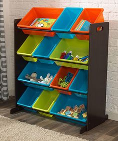 Look what I found on #zulily! Espresso & Brights 12-Bin Sort It-Store It Organizer #zulilyfinds