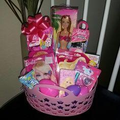 Easter Gift Baskets, Basket Gift, Easter Decor, Christmas Birthday, Christmas Gifts, Christmas 2017, Pre Filled Easter Baskets, Easter Gifts For Kids, Barbie Birthday