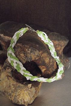 Tracery beaded choker by MaryLooGifts on Etsy