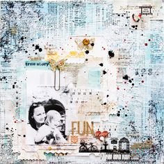 Mixed Media Canvas - FUN and ESPRIT Scrapbooking Magazine