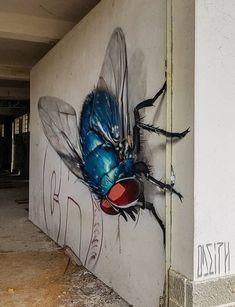 Streetart Amazing Realistic Street Art - cbm - A Step-by-St 3d Street Art, Urban Street Art, Amazing Street Art, Best Street Art, Street Artists, Amazing Art, Street Art Graffiti, Graffiti Kunst, Murals Street Art