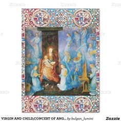 """VIRGIN AND CHILD,CONCERT OF ANGELS,PRECIOUS JEWELS 15"""" X 20"""" TISSUE PAPER"""