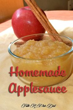 Simple, yet delicious homemade applesauce recipe using a variety of apples for canning.